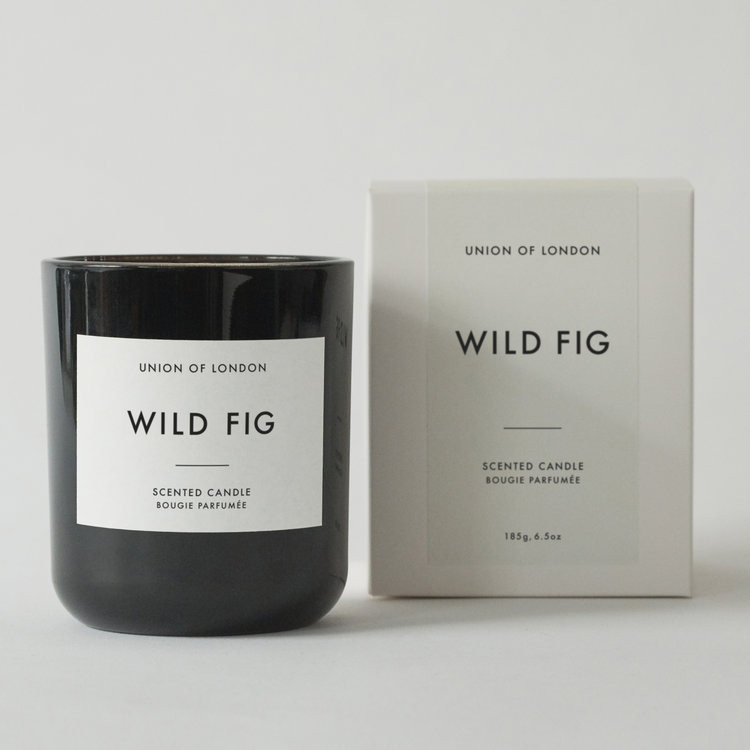 Union of London Wild Fig Medium Black Candle