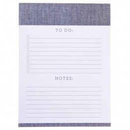 Chambray Large To Do Notepad