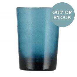 Mineral Blue Handmade Glass Tumbler