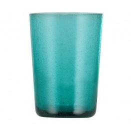 Petrol Blue Handmade Glass Tumbler