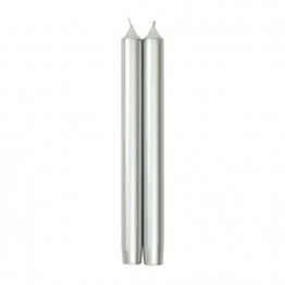 Pair of Luxury Candles Silver