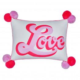 Retro Cursive Love Multicoloured Cushion