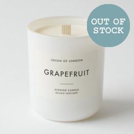 Union of London Grapefruit Large White Candle