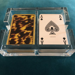 Acrylic Playing Card Holder