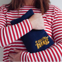 A Little Hug Hot Water Bottle Navy