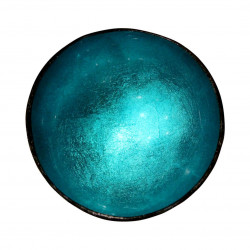 Blue Turquoise Lacquered Coconut Bowl