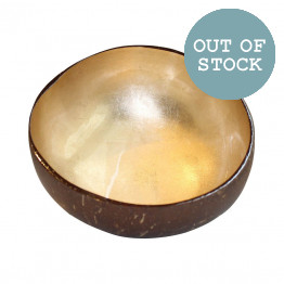 Light Gold Lacquered Coconut Bowl