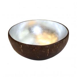 Silver Lacquered Coconut Bowl