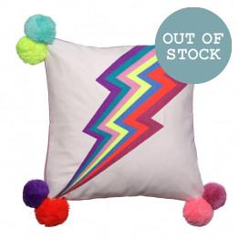 Lightning Bolt Square Cushion