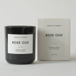 Union of London Rose Oud Medium Black Candle